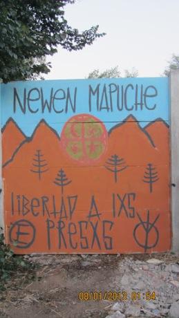 Un pequeño gesto de solidaridad con lxs hermanxs mapuches desde villa alemana