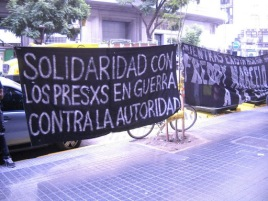 Jornada Internacional en Solidaridad con Freddy, Marcelo y Juan (Actividad Buenos Aires + Video detencion en Centro de Justicia $hile)