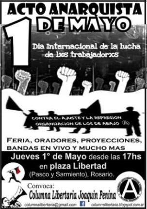 Acto Anarqsuista 1º M Rosario 2014