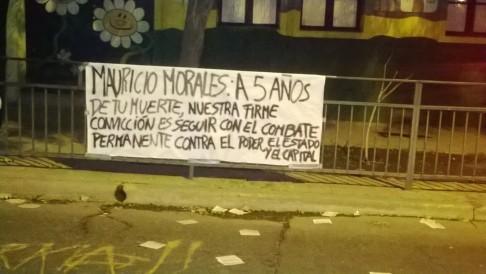 Pancarta en el acto conmemorativo del 22 de Mayo en Ventura Lavalle-Sierra Bella