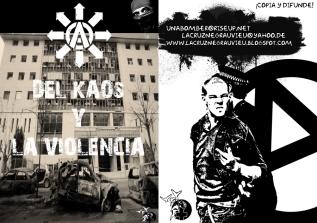 Del Kaos y la violencia portadaycontra